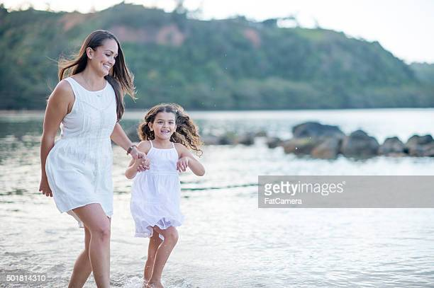 Mother and Daughter Enjoying Their Holiday Vacation