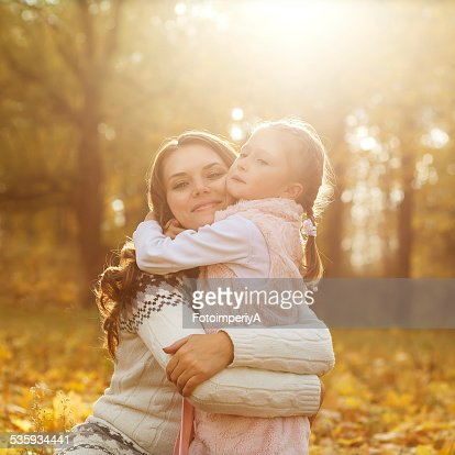 Mother and daughter having fun : Stock Photo