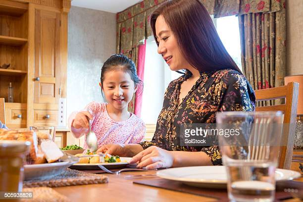 Mother and Daughter having lunch