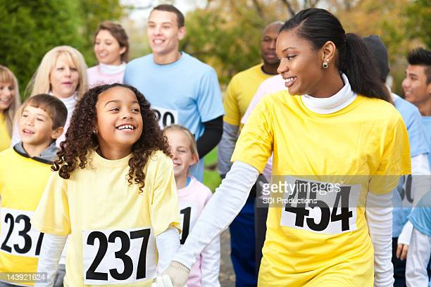 Mother and Daughter in Charity Race