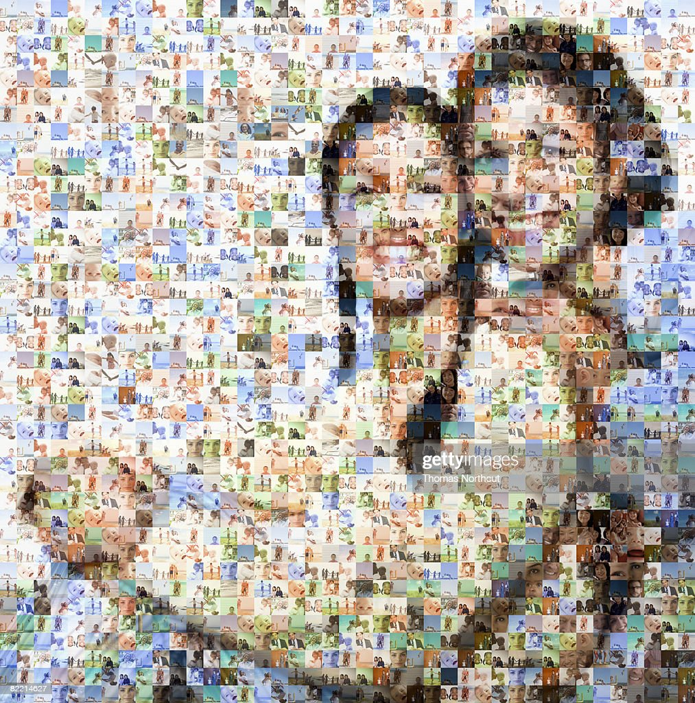 Mother and daughter made out of family imagery : Stock Photo