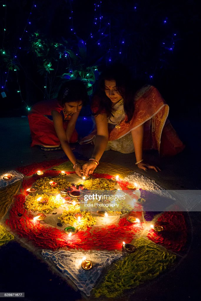 Mother and Daughter on Diwali