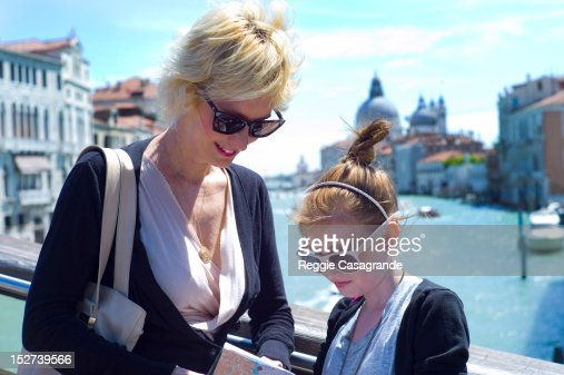 Mother and daughter on holiday, Venice, Italy : Stock Photo
