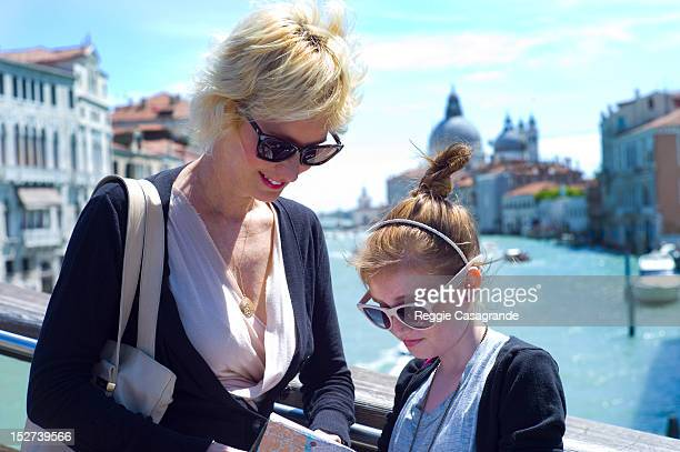 Mother and daughter on holiday, Venice, Italy