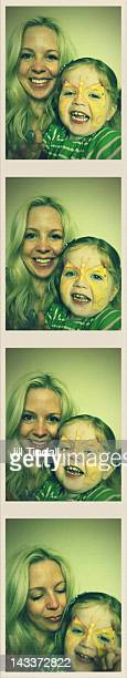 Mother and daughter photobooth