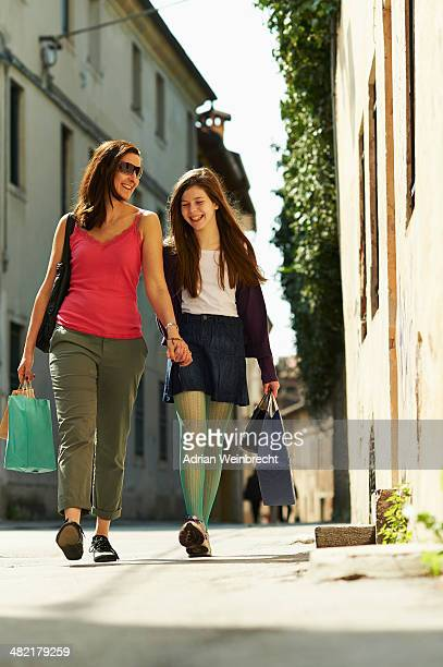 Mother and daughter shopping, Province of Venice, Italy