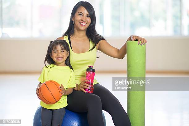 Mother and Daughter Spending Time at the Gym