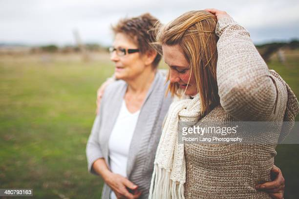 Mother and daughter together
