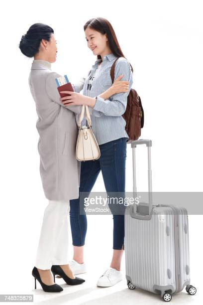 Mother and daughter travel