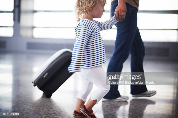 Mother and daughter traveling