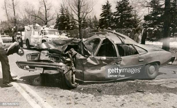 Mother and daughter were injured in this car when it was invovled in threecar crash Mrs Mary Jean Danknich and Judy Ann Danknich were injured...