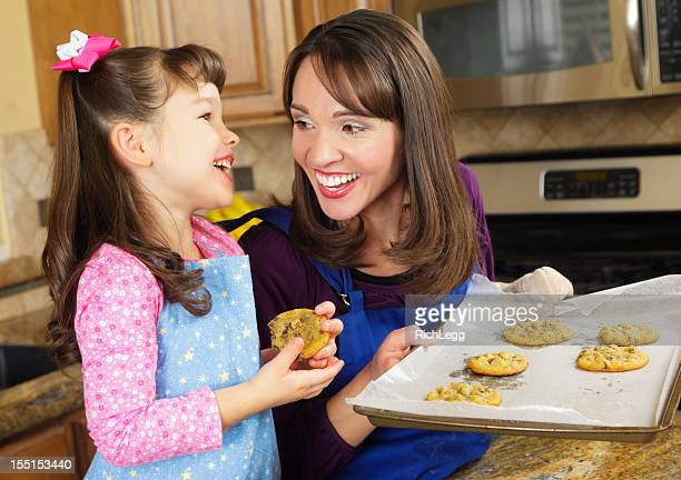 Mother and Daughter With Cookies