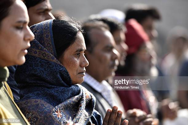 Mother and father of Nirbhaya the victim of a fatal gangrape in a moving bus on December 16 visited Gandhi Samadhi to remember their daughter on...
