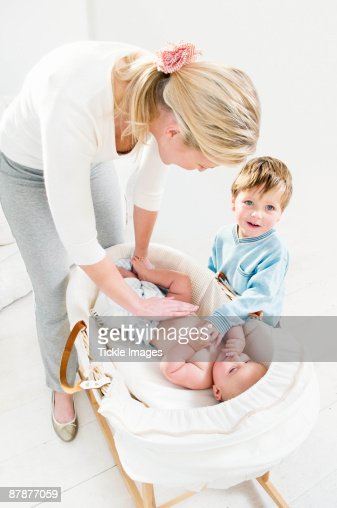 A mother and her children. : Stock Photo