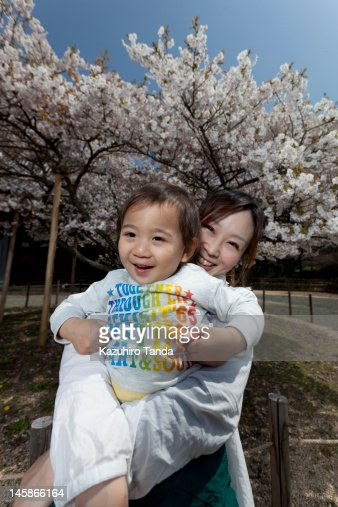 Mother and her son smiling portrait : Stock Photo