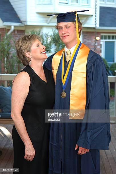 Mother and Son at Graduation
