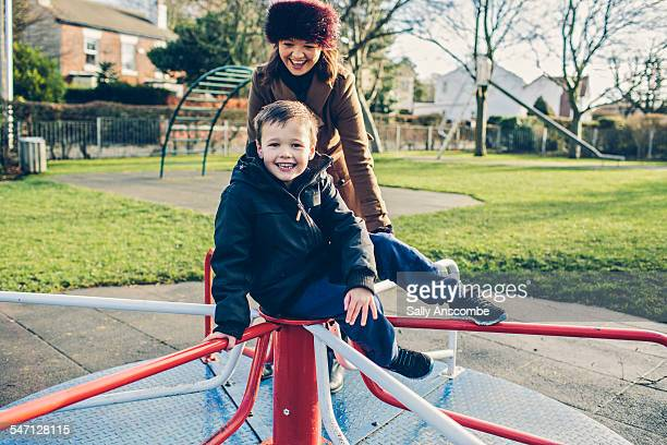Mother and Son at the park together