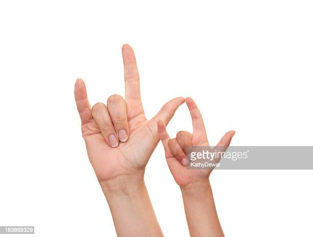 Mother and Son I Love You in American Sign Language