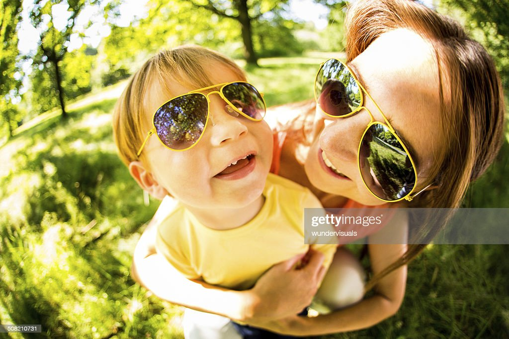 Mother and Son in Matching Sunnies
