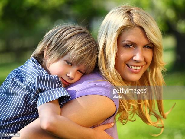 母と息子の公園です。