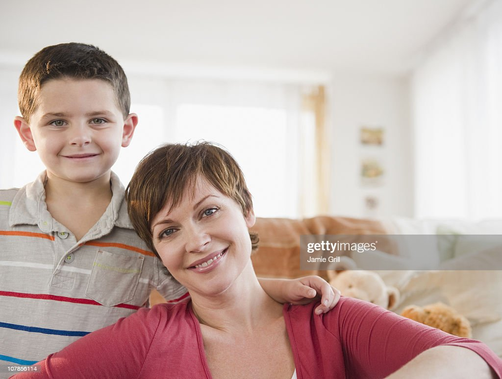 Mother and son, portrait : Stock Photo