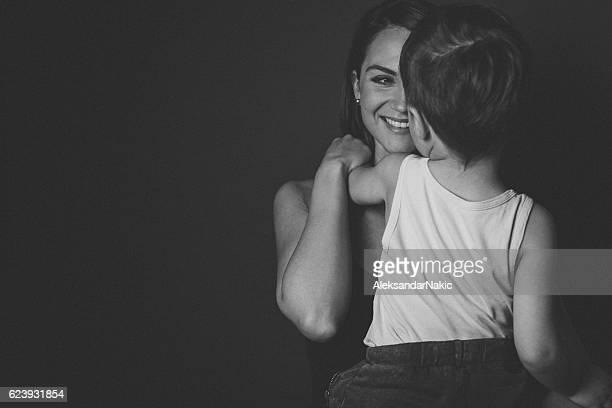 portrait de mère et fils