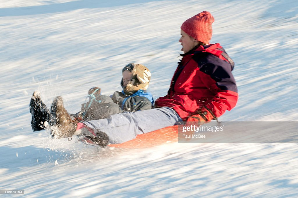 Mother and son riding : Stock Photo