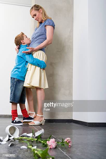 Mother and Son with Broken Vase