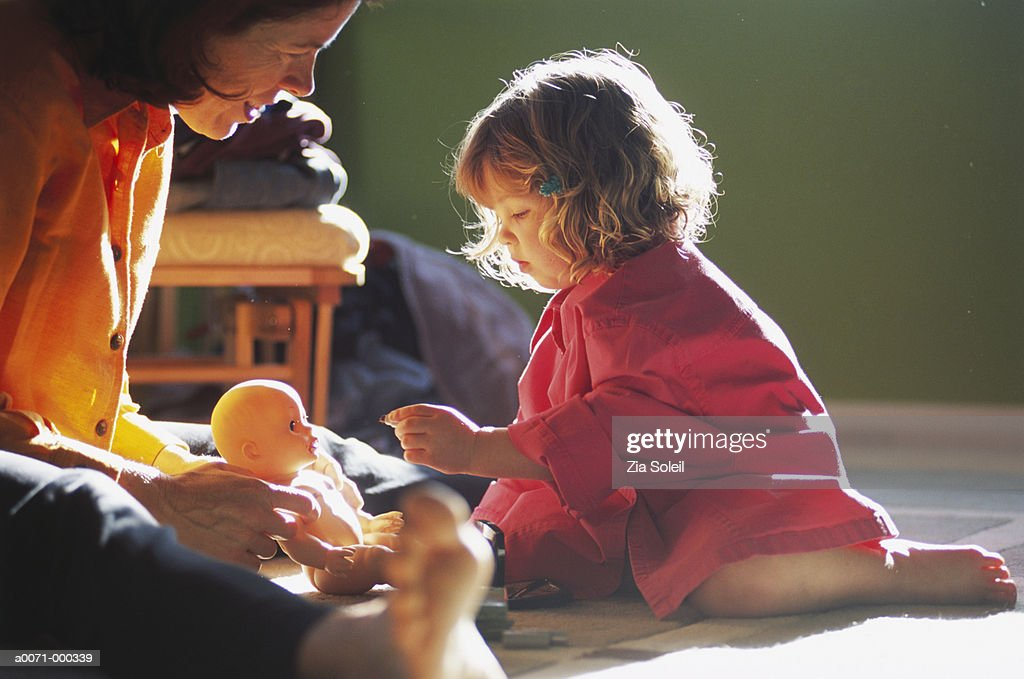 Mother and Toddler Playing : Stock Photo