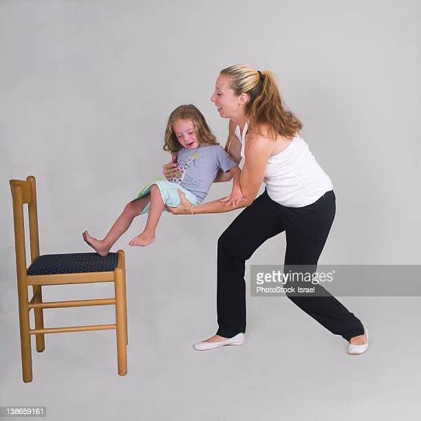 Mother catches daughter