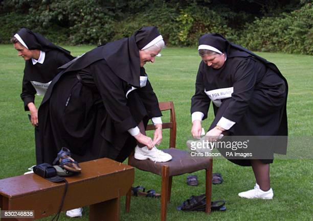 Mother Clare Morley and Sister Dorothy Ryan of the Benedictine Sisters from Kylemore Abbey in Connemara in Dublin to launch the Irish Cancer...
