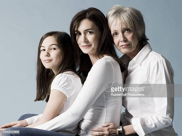 Madre hija y granddaughter