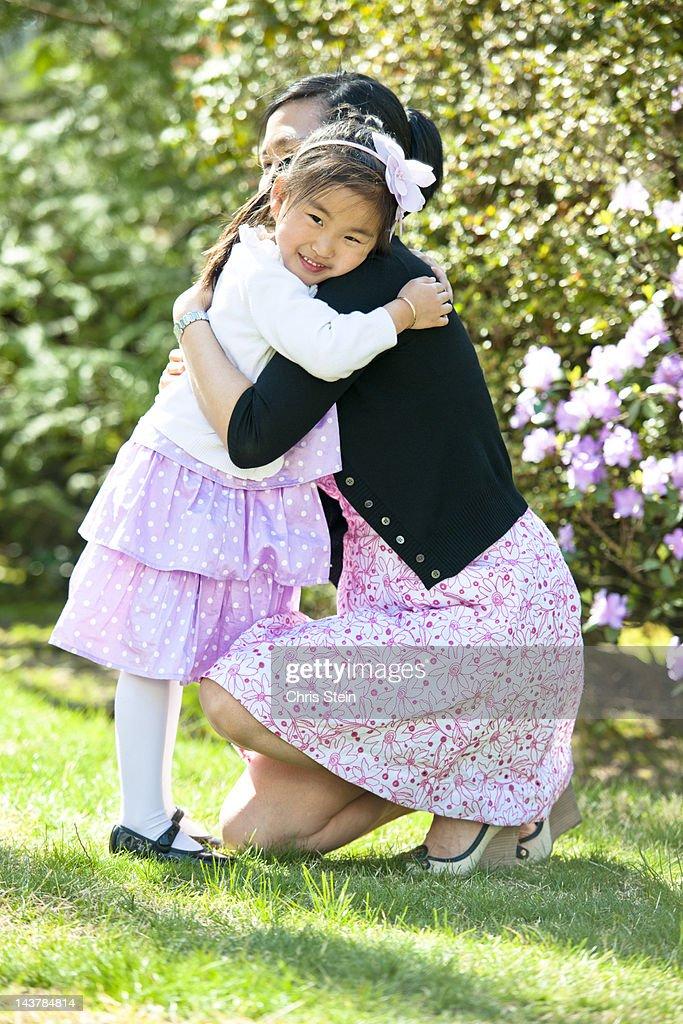 Mother Daughter hug : Stock Photo