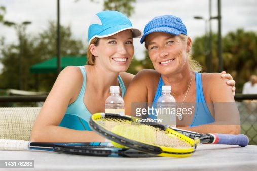 mother daughter tennis players doubles partners