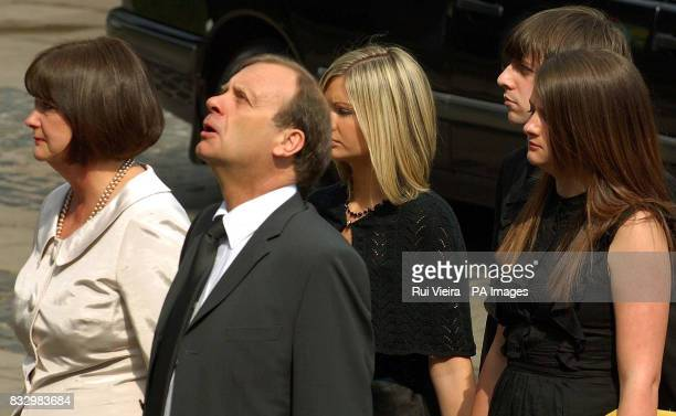 mother Julia Hawker father Bill Hawker sisters Lisa and Louise and boyfriend Ryan Garside at the funeral service of Lindsay Ann Hawker at Coventry...