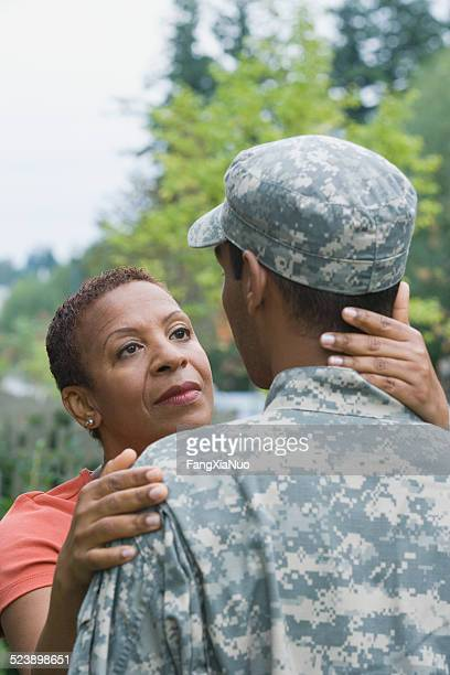 Mother Looking at Soldier
