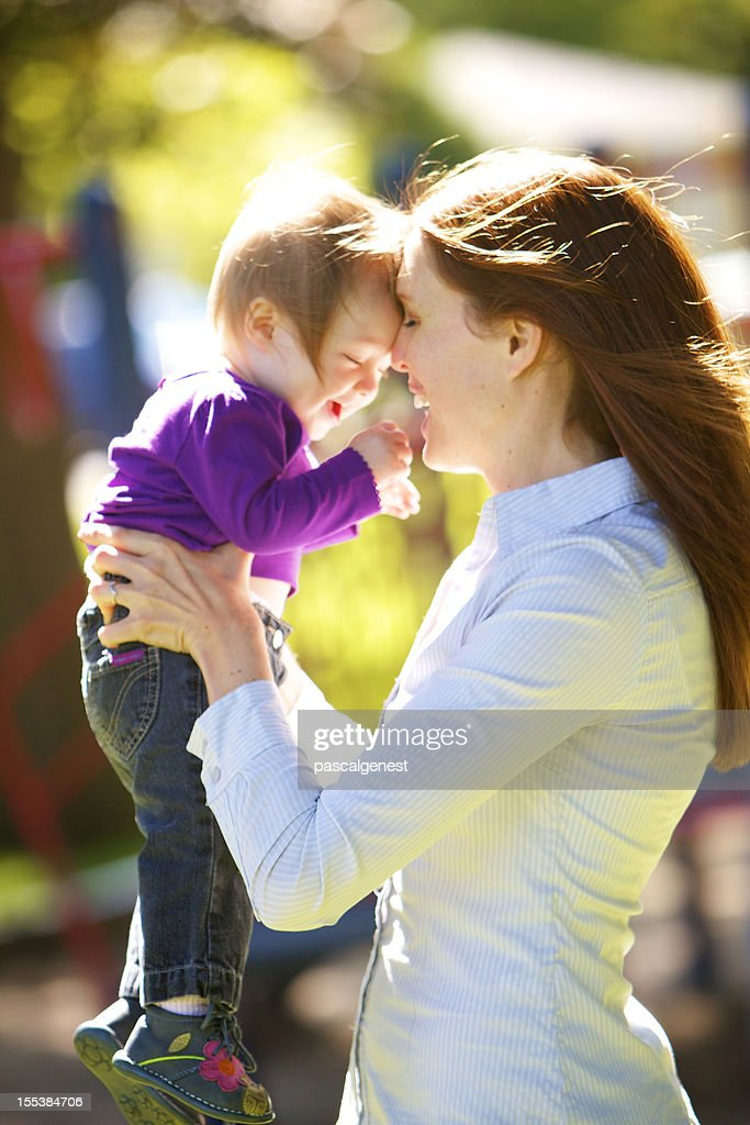 mother loving her girl : Stock Photo