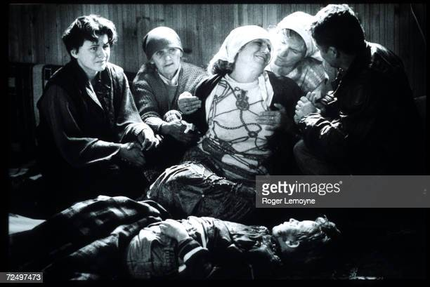 A mother mourns the loss of her son who was killed while collecting wood October 1998 in Drenica Hills Yugoslavia After Yugoslav President Slobodan...