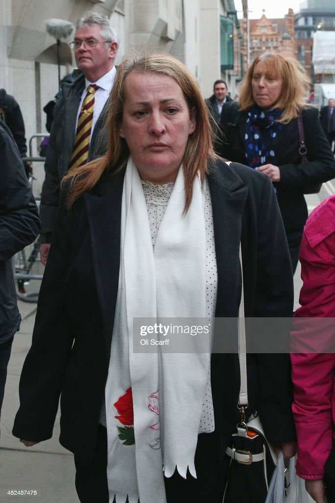 Mother of murdered fusilier Lee Rigby Lyn Rigby arrives at the Old Bailey to attend the first day of the trial of Michael Adebolajo and Michael...