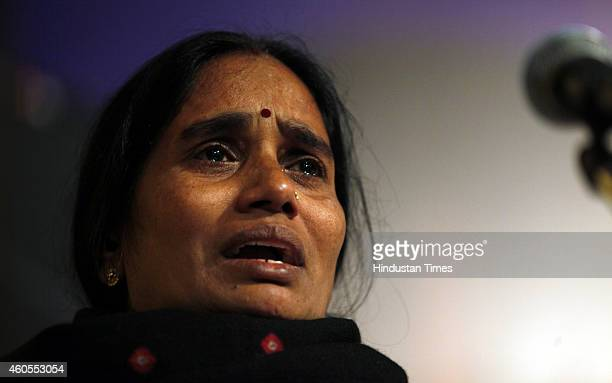 Mother of Nirbhaya gets emotional at a prayer meeting to remember Nirbhaya on the second anniversary of the fatal gangrape organized by Nirbhaya...