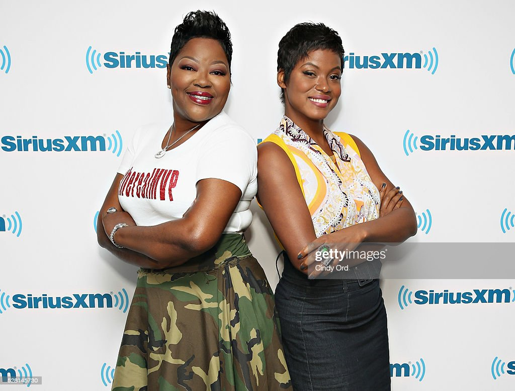 Mother of professional basketball player Kevin Durant, Wanda Durant and actress Cassandra Freeman visit the SiriusXM Studios on May 04, 2016 in New York, New York.