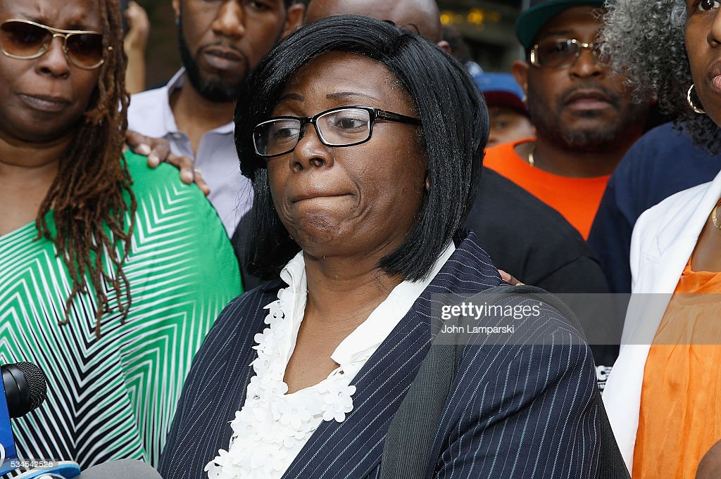 Mother of shooting victim Ronald McPhatter, Rose McPhatter attends National Anti-Violence Community Press Conference at Irving Plaza with family of Ronald McPhatter, shooting victim at Irving Plaza on May 26, 2016 in New York City.