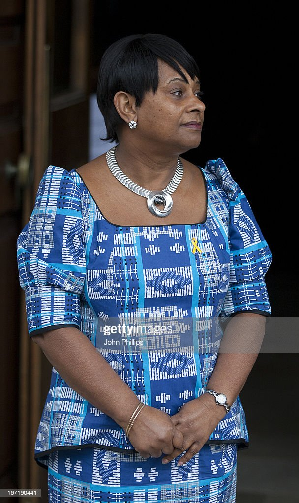 Mother of Stephen Lawrence, Doreen Lawrence arrives at a memorial service for Stephen Lawrence at St Martin-in-the-Fields Church on April 22, 2013 in London, England. Stephen Lawrence, a black A-level student was stabbed to death at a bus stop twenty years ago by a gang of white youths in a racially motivated attack in Eltham, south-east London, on April 22, 1993. Two men, Gary Dobson and David Norris were found guilty of his murder in January 2012.