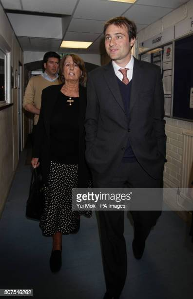 Mother of Zac Goldsmith Annabel arrives with his brother Ben Goldsmith at the General election count for the London Borough of Richmond upon Thames...
