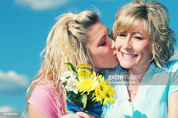 Mother Receives Flowers from Daughter
