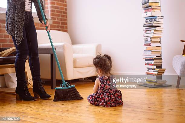 Mother Sweeping