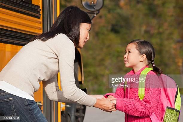 Mutter und Tochter zu sprechen, denn Sie sich auf die Schule