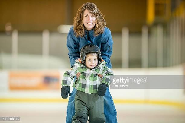 Mère professeur Son fils de Skate