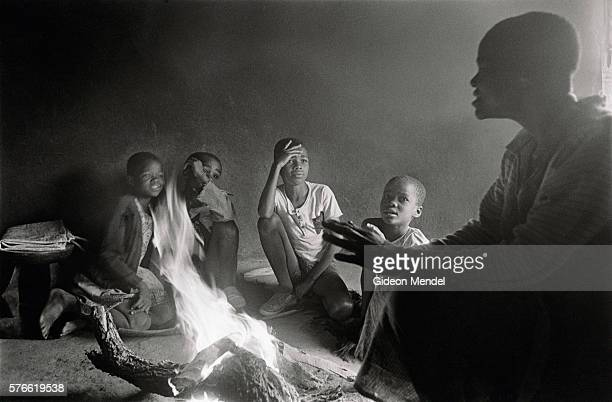 Mother Telling Stories to Children