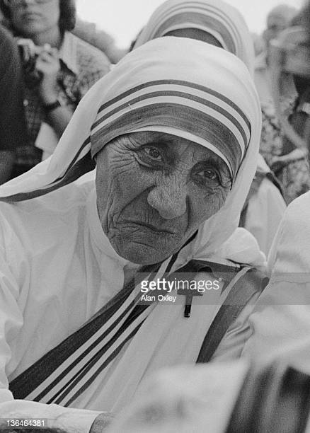 Mother Teresa India's 'Saint of the Gutters' in Miami 11th June 1981 Born Agnes Gonxha Bojaxhui in Skopje Macedonia she won the 1979 Nobel Peace...